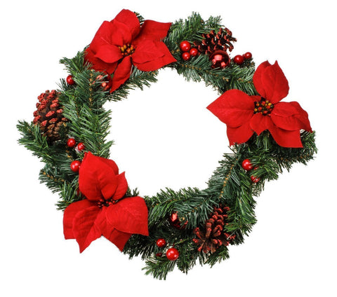 2 feet Imported Artificial Christmas Wreath (2 foot x 2 foot)