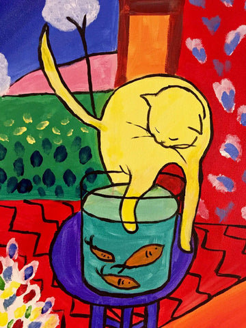 Cat With Red Fish (Chat Aux Poissons Rouges) - Henri Matisse - Canvas Prints