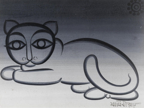 Cat by Jamini Roy