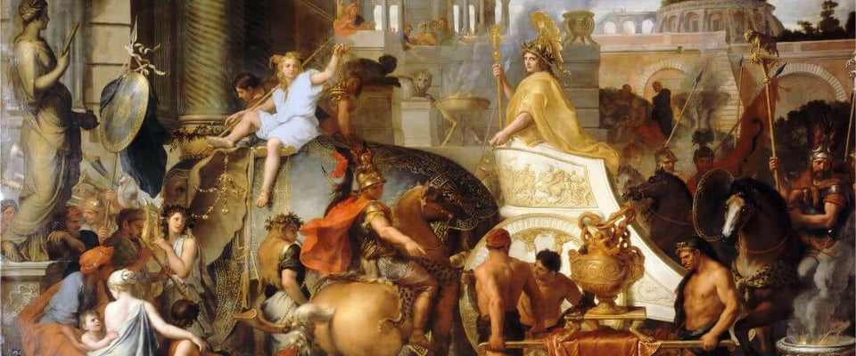 Entry Of Alexander Into Babylon - Charles Le Brun by Charles Le Brun | Buy Posters, Frames, Canvas  & Digital Art Prints