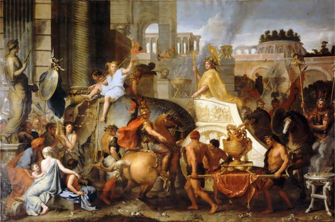 Entry Of Alexander Into Babylon - Charles Le Brun