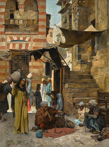 A Souk In Cairo, 1887 - Charles Wilda by Charles Wilda