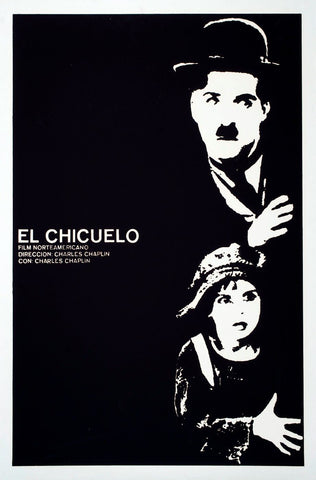 Charlie chaplin the kid vintage italian movie poster large art prints
