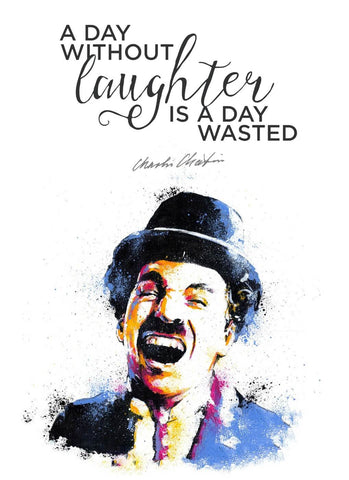 Charlie Chaplin - A Day Without Laughter Is A Day Wasted by Tallenge Store