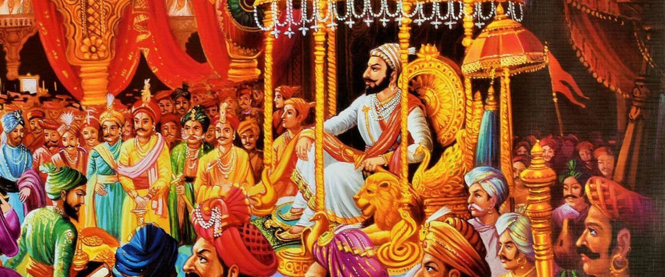 Chattarapati Shivaji Maharaj Coronation Painting by Shudraka Nayar | Buy Posters, Frames, Canvas  & Digital Art Prints