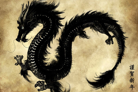 Chinese Dragon Art by Roselyn Imani