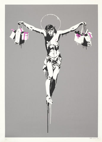 Christ with Shopping Bags - Banksy
