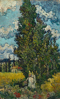 Cypresses and Two Women by Vincent Van Gogh | Buy Posters, Frames, Canvas  & Digital Art Prints
