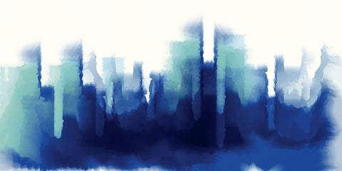 Cityscape Blues - Abstract Modern