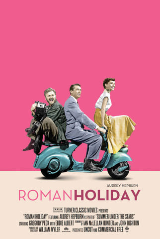 Classic Movie Poster Art - Roman Holiday -Gregory Peck Audrey Hepburn  - Tallenge Hollywood Poster Collection 2