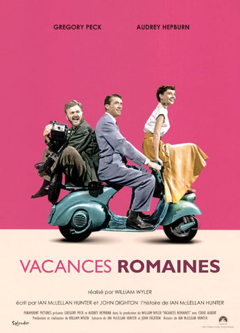 Classic Movie Poster Art - Roman Holiday - Vacances Romaines - Tallenge Hollywood Poster Collection
