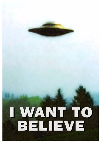 Classic TV Poster - X Files - Mulder - I Want To Believe by Bethany Morrison