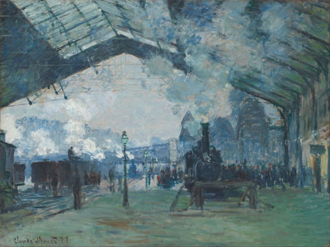 Claude Monet - Arrival of the Normandy Train - Gare Saint-Lazare by Claude Monet