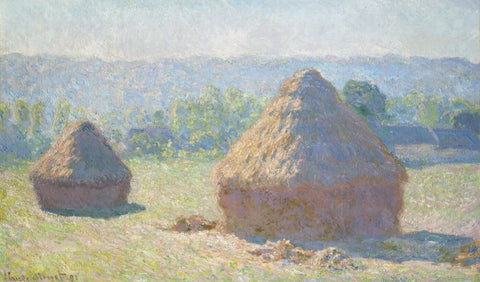 Haystacks, end of Summer (Meules, fin de lété) - Claude Monet