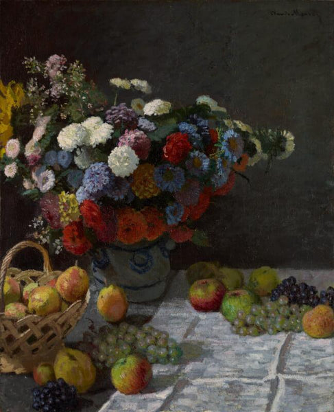 Still Life With Flowers And Fruit - Art Prints