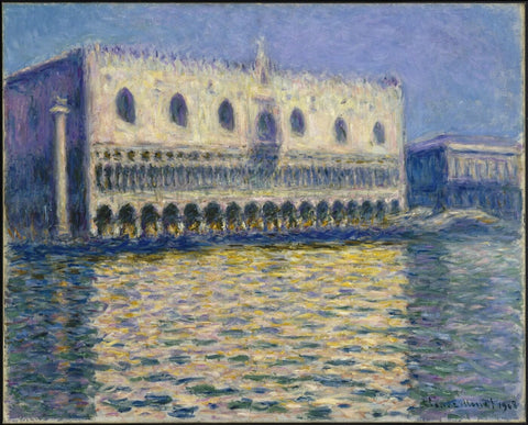 The Doges Palace (Le Palais ducal) 1908 - Claude Monet