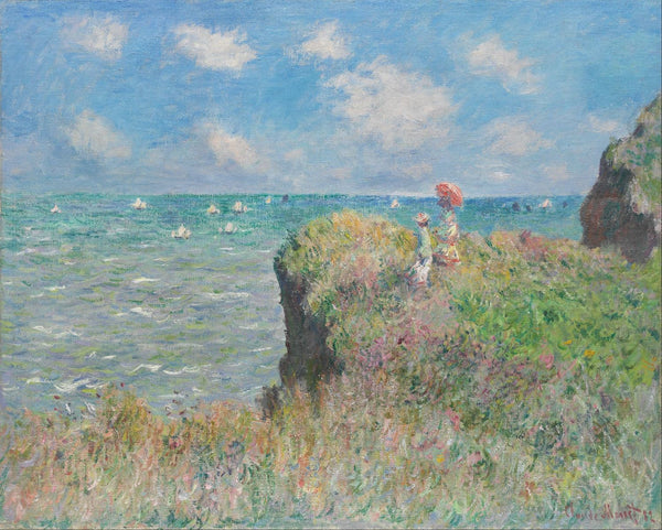 Cliff Walk At Pourville - Art Prints