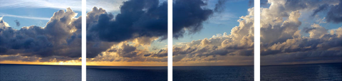 Clouds Over The Sea Panorama - Art Panels