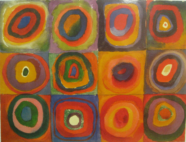 Color Study, Squares and Concentric Circle - Life Size Posters