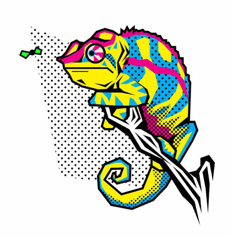 Colorful Chameleon - Posters by William J. Smith