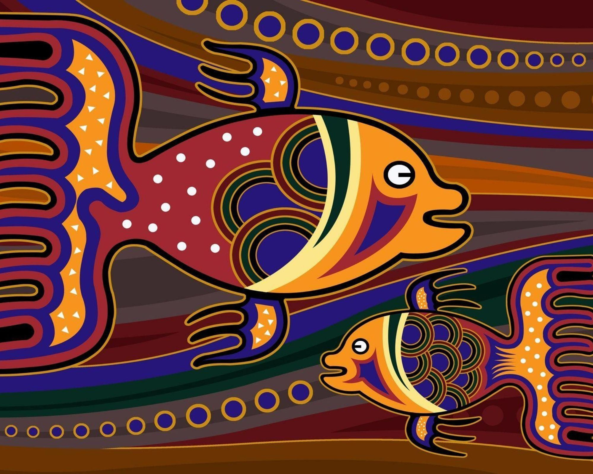 Colorful Fish Art by Hamid Raza | Buy Posters, Frames, Canvas ...