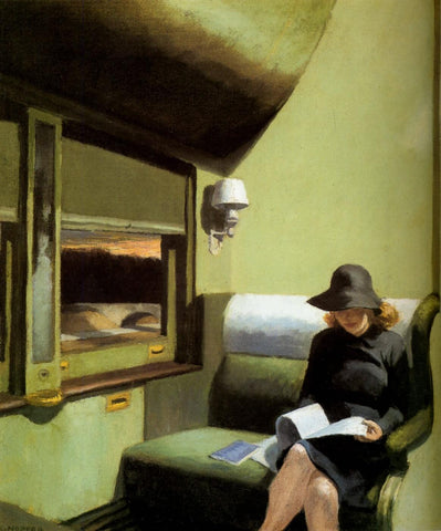 Compartment C Car 193 by Edward Hopper