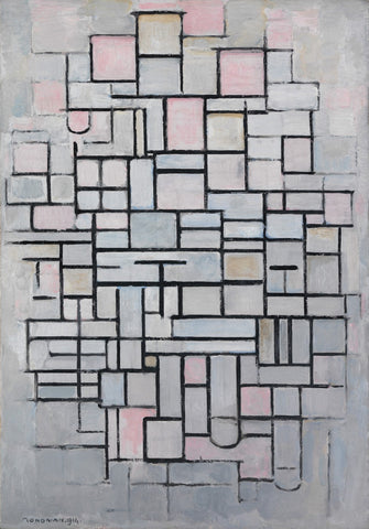 Piet Mondrian - Composition No. 6 by Piet Mondrian