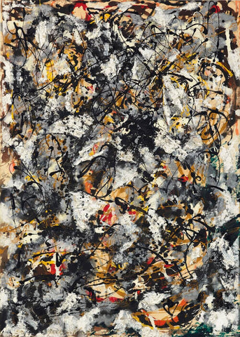Composition with Red Strokes 1950 - Jackson Pollock