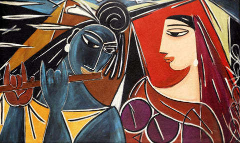 Contemporary Indian Art - Radha Krishna