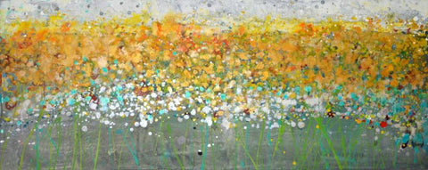 Contemporary Abstract Art - Buttercup Fields