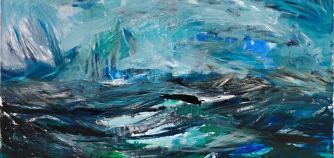 Contemporary Abstract Art - Seascape Detail by Sherly David