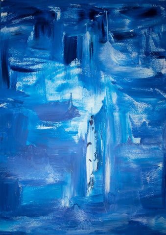 Contemporary Abstract Art - Tears by Sherly David