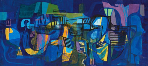 Contemporary Abstract Art  - The Jazz Musicians - Posters