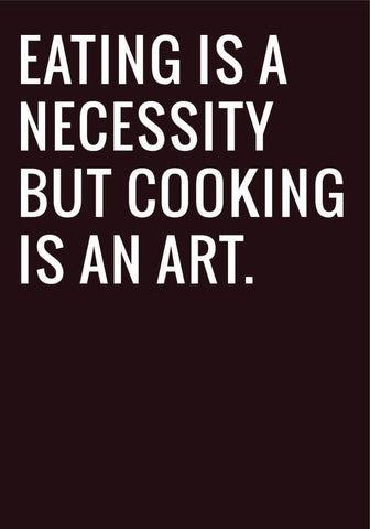 Cooking Is An Art by Tallenge Store