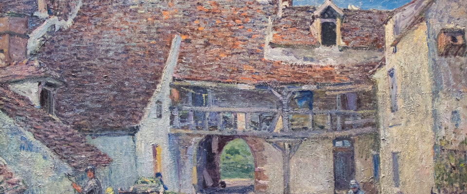 Cour de ferme à Saint-Mammès by Alfred Sisley | Buy Posters, Frames, Canvas  & Digital Art Prints