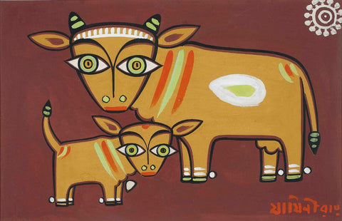 Jamini Roy - Cow and calf