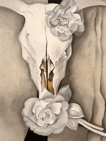 Cows Skull With Calico Roses - Georgia O'Keeffe