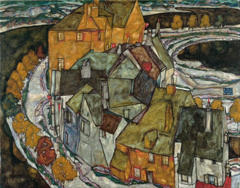 Egon Schiele - Krumau Hauserbogen (Crescent Of Houses II) - Large Art Prints