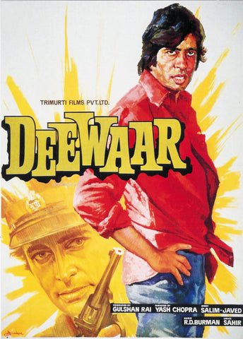 Cult Classics Movie Poster - Deewar - Amitabh Bachchan - Tallenge Bollywood Poster Collection by Tallenge Store