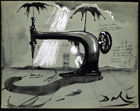 Sewing Machine With Umbrellas