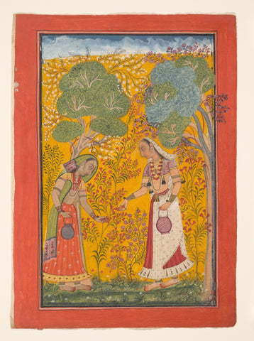 Indian Miniature Art - Vasanti Ragini, Garland of Musical Modes