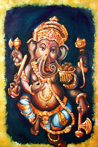 Dancing Ganesha Painting