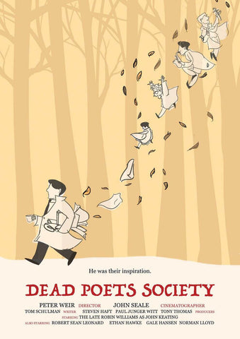 Dead Poets Society - Robin Williams - Hollywood Classic Graphic Movie Poster by Tim