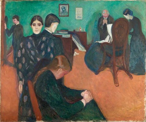 Death In The Sickroom (Muerte En El Cuarto Del Enfermo) - Edvard Munch