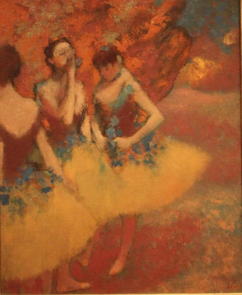 Three Dancers In Yellow Skirts - Large Art Prints