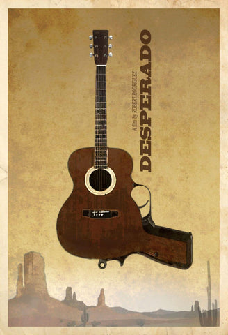 Desperado - Minimalist Art Poster - Robert Rodriguez Hollywood Movie Poster