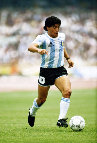 Diego Maradona - Football Legend - Sports Poster by Joel Jerry
