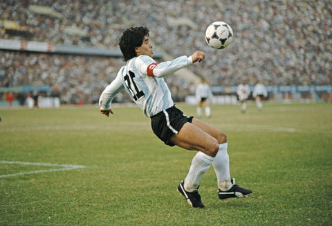 Diego Maradona - Greatest Soccer Players Of All Time - Football Legend - Sports Poster by Joel Jerry