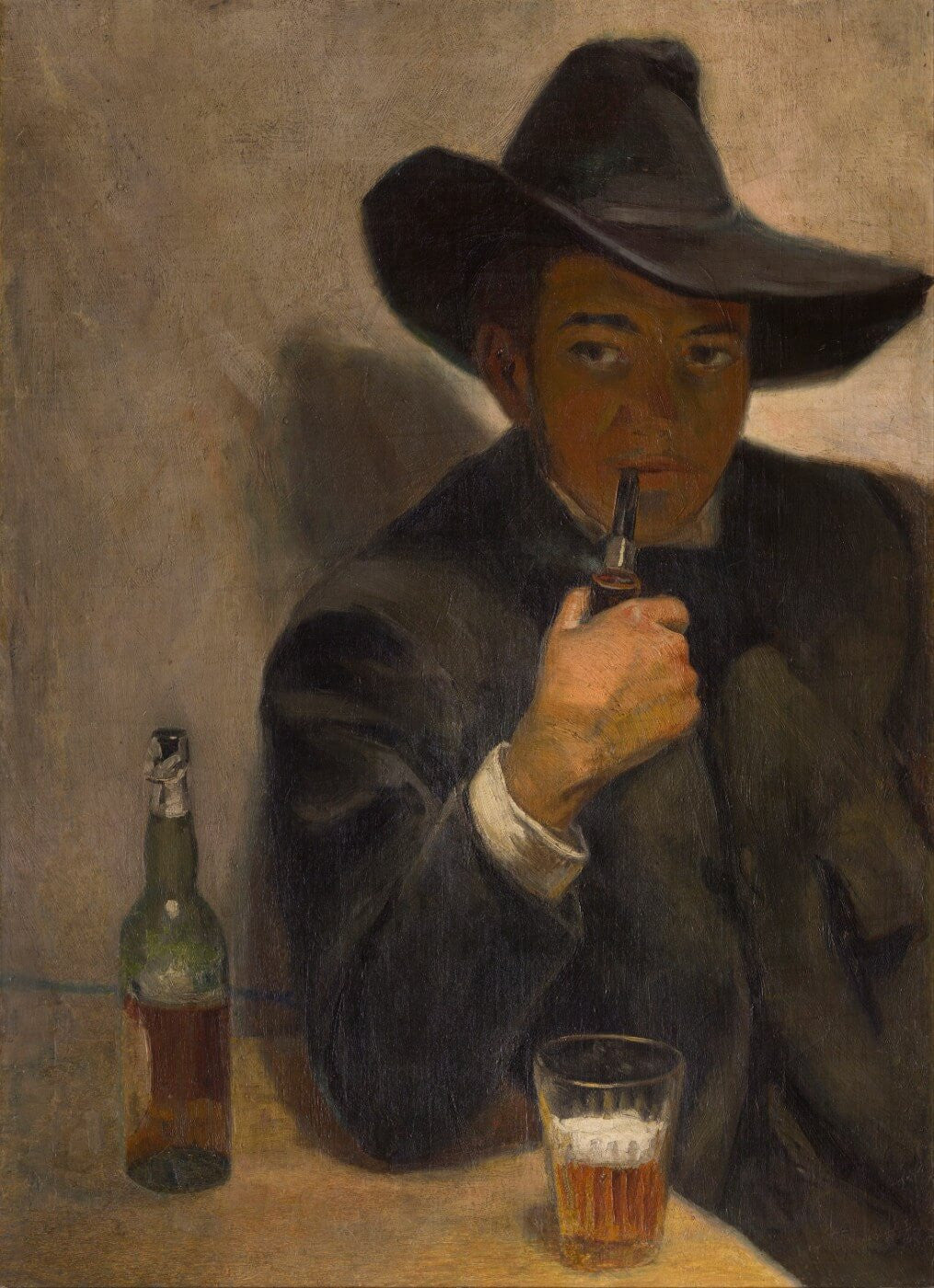 Self-Portrait With Broad-Brimmed Hat by Diego Rivera  7a1e3cadb