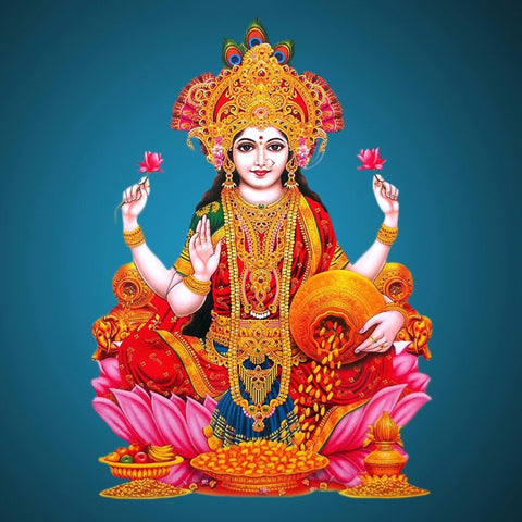 Digital Art - Divine Lakshmi - The Goddess of Prosperity Wealth